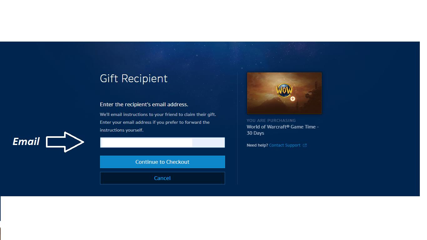 راهنمای بازی world of warcraft how to gift a game time wow 3 5 - آموزش ارسال گیم کارت به روش Gift